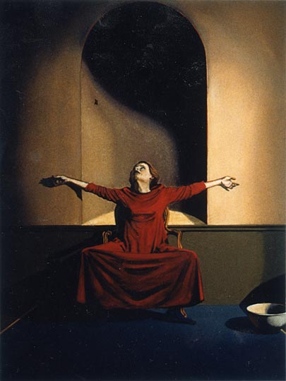 Kathleen E. Marshall - Outstretched Arms, Gouache on paper
